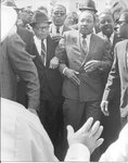 Dr. Martin Luther King, Jr., marching in Memphis, 1968