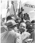 Dr. Martin Luther King, Jr. during a march, Memphis, 1968