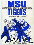 Memphis State University football media guide, 1963