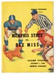 Memphis State University vs University of Mississippi football program, 1960