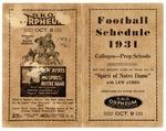Memphis schools' football schedule, 1931