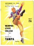 Memphis State College vs University of Tampa football program, 1949