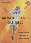 Memphis State University vs University of Mississippi football program, 1958