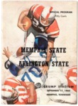 Memphis State University vs Arlington State College football program, 1960