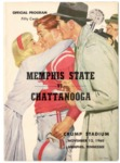 Memphis State University vs University of Chattanooga football program, 1960