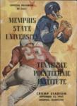 Memphis State University vs Tennessee Polytechnic Institute football program, 1962