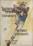 Memphis State University vs University of Detroit football program, 1962