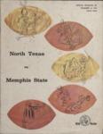 Memphis State University vs North Texas State University football program, 1965