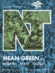 Memphis State University vs North Texas State University football program, 1974