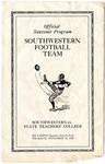 West Tennessee State Teachers College vs Southwestern football game program, 1925