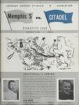 Memphis State University vs The Citadel football program, 1962