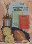Memphis State College vs Mississippi State University football program, 1954