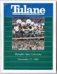 Memphis State University vs Tulane University football program, 1984