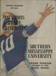 Memphis State University vs University of Southern Mississippi football program, 1964