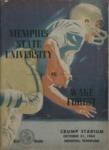 Memphis State University vs Wake Forest College football program, 1964