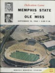 Memphis State University vs University of Mississippi football program, 1965