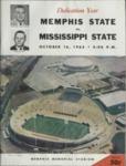 Memphis State University vs Mississippi State University football program, 1965