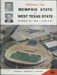 Memphis State University vs West Texas State University football program, 1965