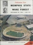 Memphis State University vs Wake Forest College football program, 1965