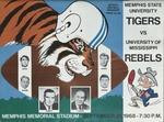 Memphis State University vs University of Mississippi football program, 1968