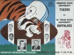 Memphis State University vs West Texas State University football program, 1968
