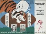Memphis State University vs University of Southern Mississippi football program, 1968