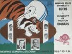 Memphis State University vs University of Houston football program, 1968