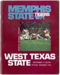 Memphis State University vs West Texas State University football program, 1971