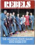 Memphis State University vs University of Mississippi football program, 1973