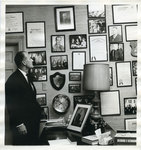 Memphis State University President Cecil Humphreys in his office