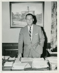 Memphis State University President Cecil C. Humphreys in his office