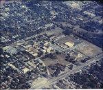 Aerial view of Memphis State University, circa 1960