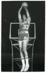 Memphis State University basketball player Ronnie Robinson, circa 1972