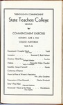 West Tennessee State Teachers College commencement program, 1940