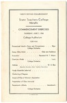 West Tennessee State Teachers College commencement, 1934. Program