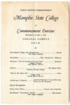 Memphis State College commencement, 1950.  Program