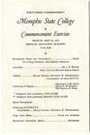 Memphis State College commencement, 1955. Program
