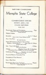Memphis State College commencement, 1945. Program