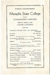 Memphis State College commencement, 1942. Program