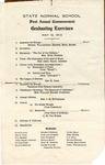 West Tennessee State Normal School commencement, 1913. Program
