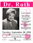 Dr. Ruth lecture placard, Memphis State University, 1993
