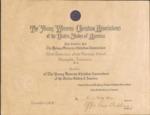 West Tennessee State Normal School YWCA membership certificate, 1915