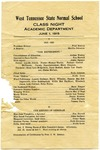 West Tennessee State Normal School Academic Department performance program, 1915