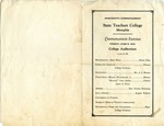 West Tennessee State Teachers College Commencement Program, 1931