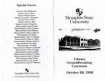 Memphis State University Library Groundbreaking Ceremony, 1992
