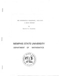 Memphis State University, The Mathematics Department, 1912-1973: A Brief History