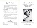 Memphis State College Spring Festival program, 1956