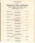 West Tennessee State Normal School Departments of Piano and Expression program, 1913
