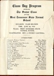 West Tennessee State Normal School Class Day program, 1914